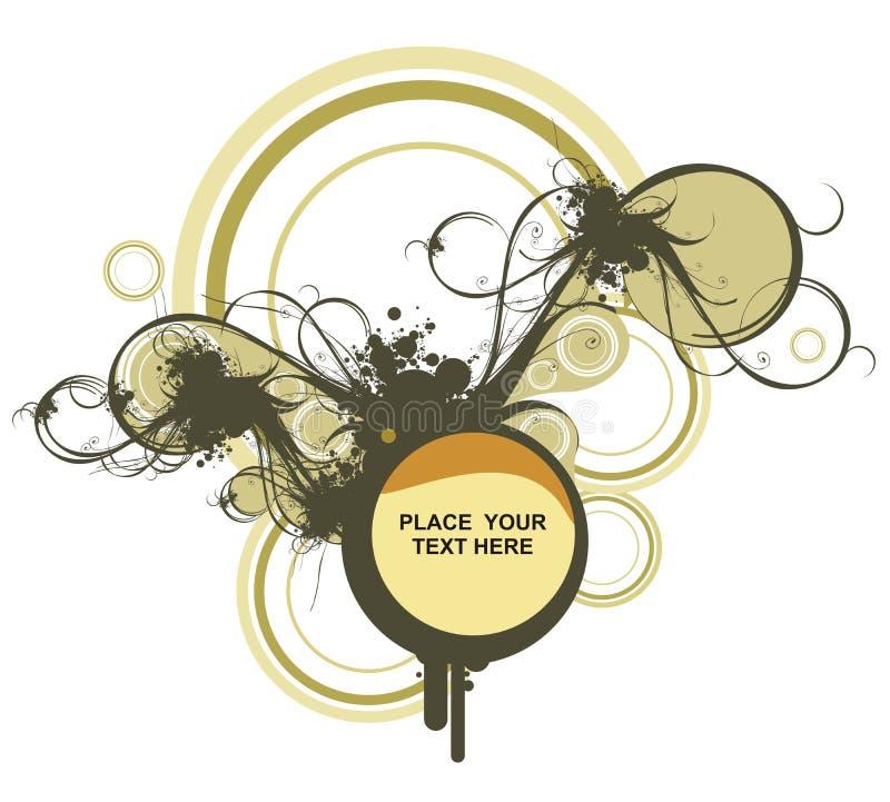 Ilustración floral decorativa ilustración del vector