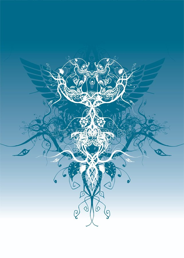Ilustración floral del vector del movimiento ilustración del vector