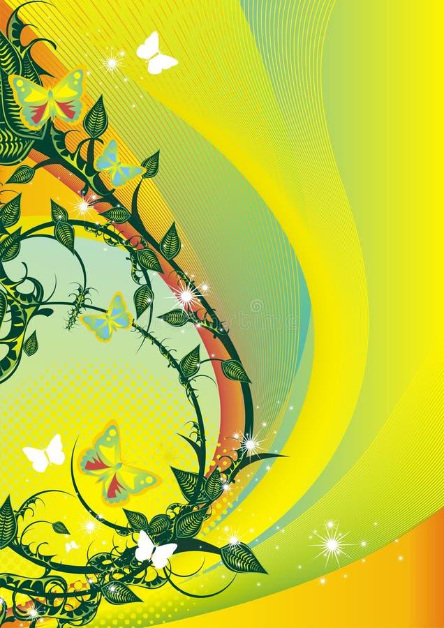 Ilustración floral del verano stock de ilustración