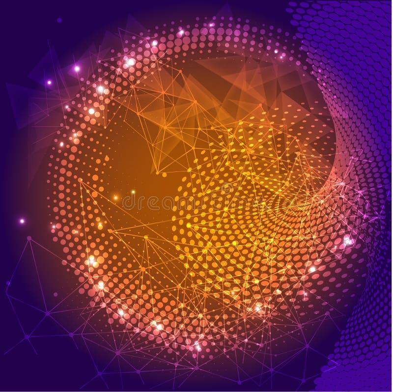 Ilustración futurista del vector Concepto de alta tecnología de la tecnología digital ilustración del vector
