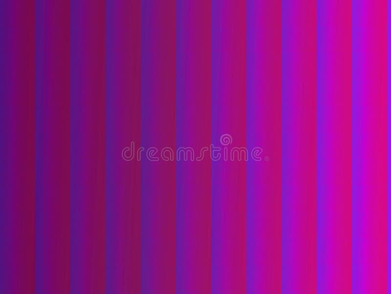 Ilustración generada por ordenador con un fondo abstracto a rayas con un gradiente en tonos rosa violeta y fluorescente stock de ilustración