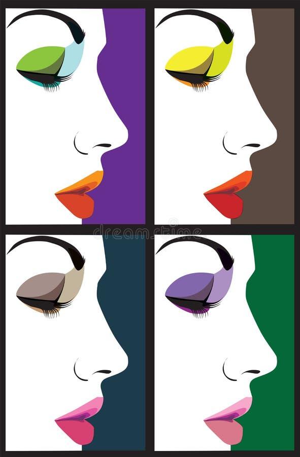Ilustración hermosa de la cara de la mujer libre illustration