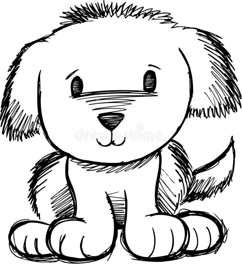 Ilustración incompleta del vector del perro ilustración del vector
