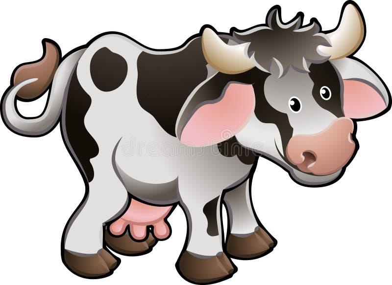 Ilustración linda del vector de la vaca lechera ilustración del vector