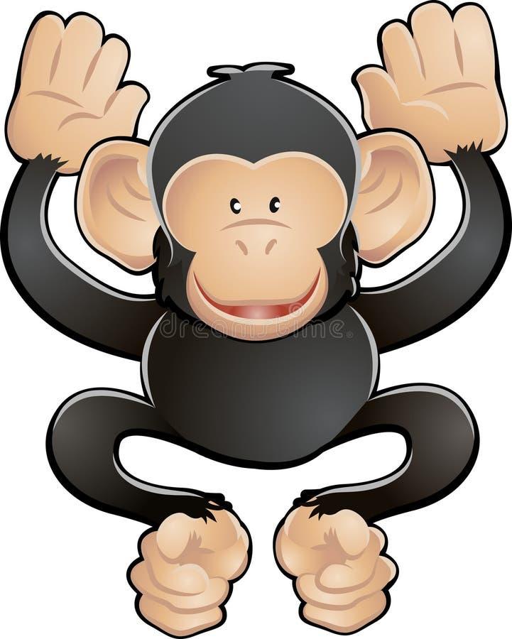 Ilustración linda del vector del chimpancé libre illustration