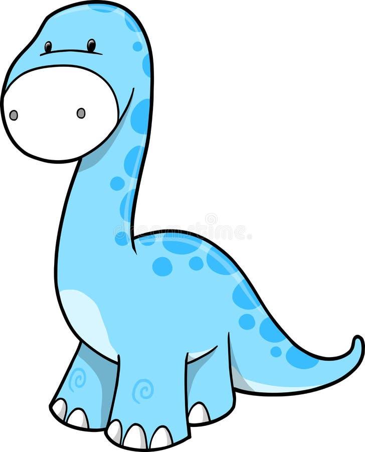 Ilustración linda del vector del dinosaurio stock de ilustración