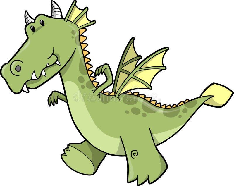 Ilustración linda del vector del dragón libre illustration