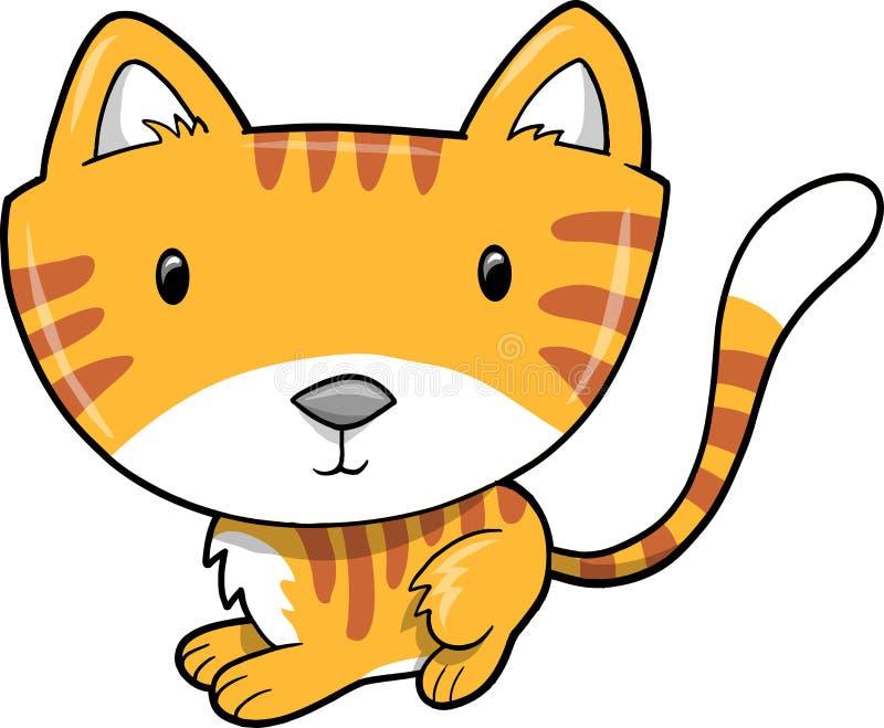Ilustración linda del vector del gato stock de ilustración