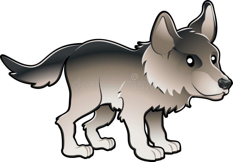 Ilustración linda del vector del lobo ilustración del vector