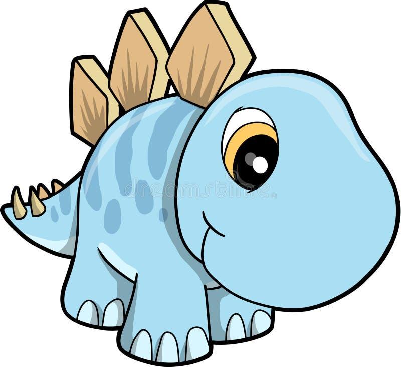Ilustración linda del vector del Stegosaurus stock de ilustración