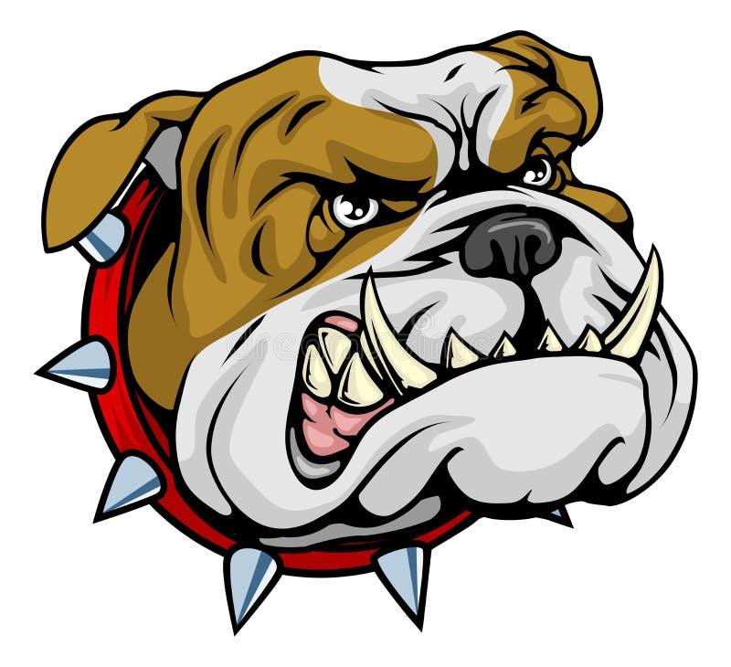 Ilustración mala de la mascota del dogo ilustración del vector