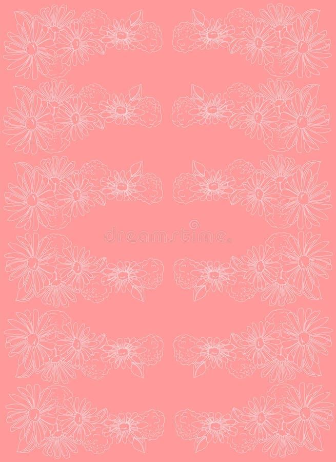 Ilustración Margaritas en un fondo rosado Modelo inconsútil stock de ilustración