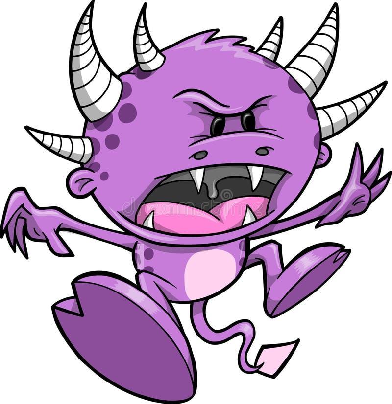 Ilustración púrpura del vector del monstruo libre illustration
