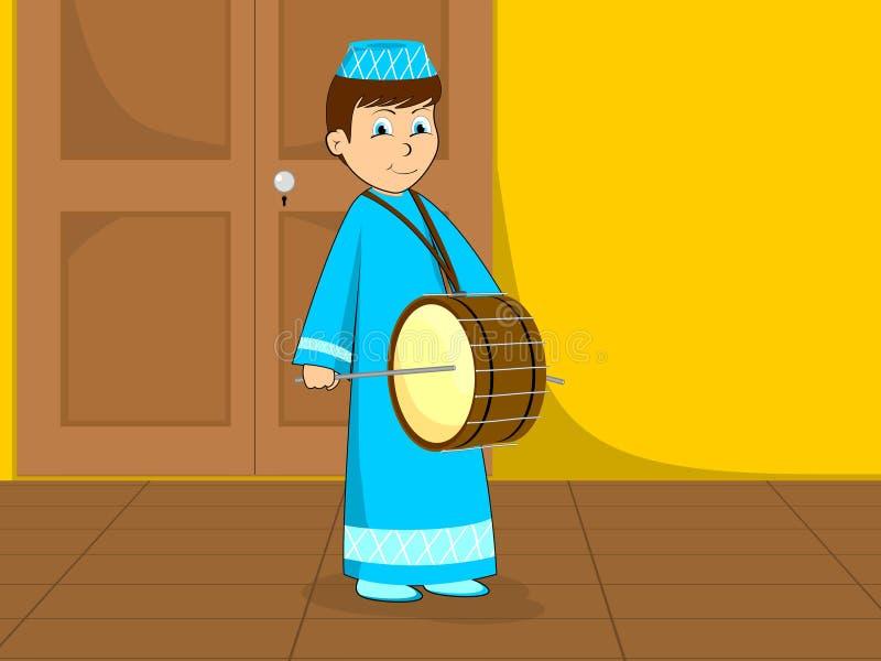 Ilustración para el kareem ramadan ilustración del vector