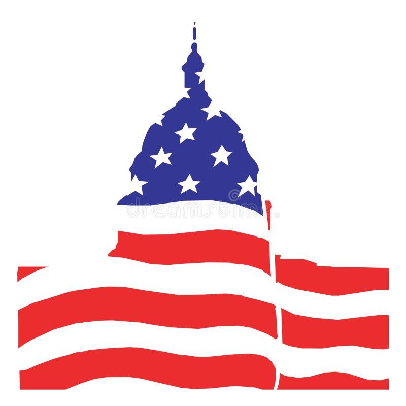 Ilustración para el senado americano en Washington stock de ilustración