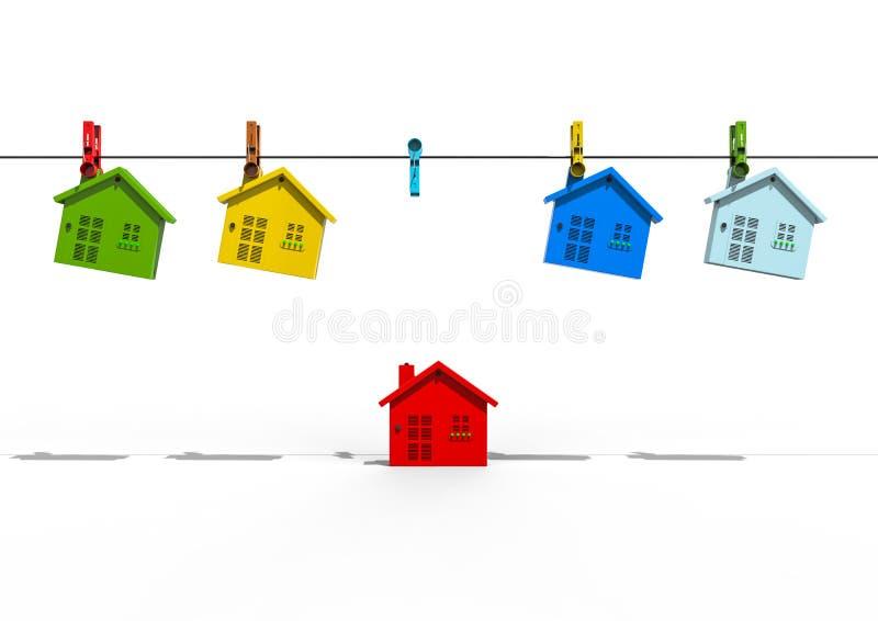 Ilustración primitiva vendida del vector de la casa ilustración del vector