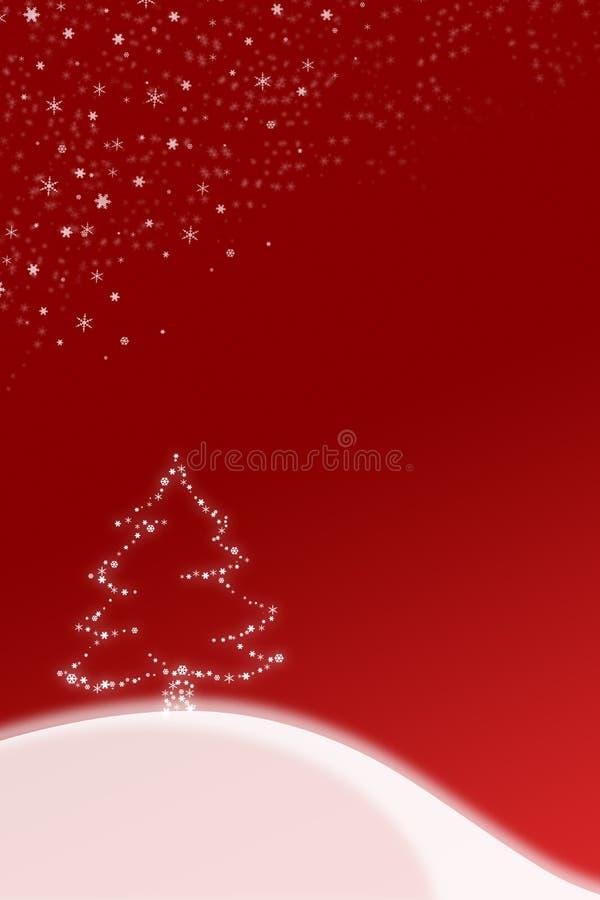 Ilustración roja de la Navidad stock de ilustración