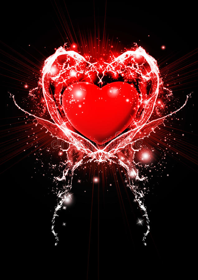 Ilustración roja del corazón fotos de archivo libres de regalías