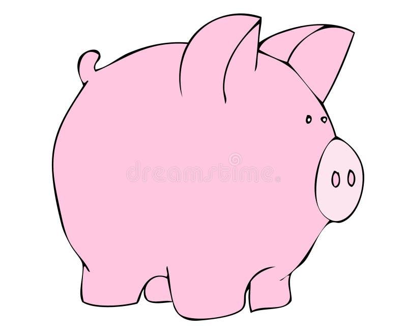 Ilustración rosada del cerdo   stock de ilustración