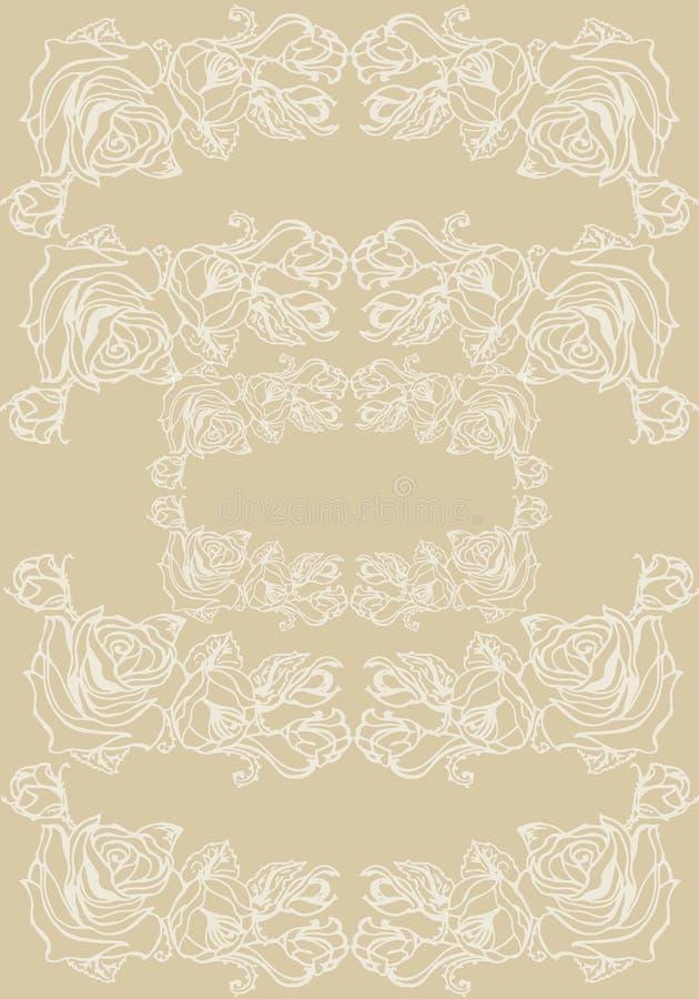 Ilustración Rosas en un fondo beige Modelo inconsútil libre illustration