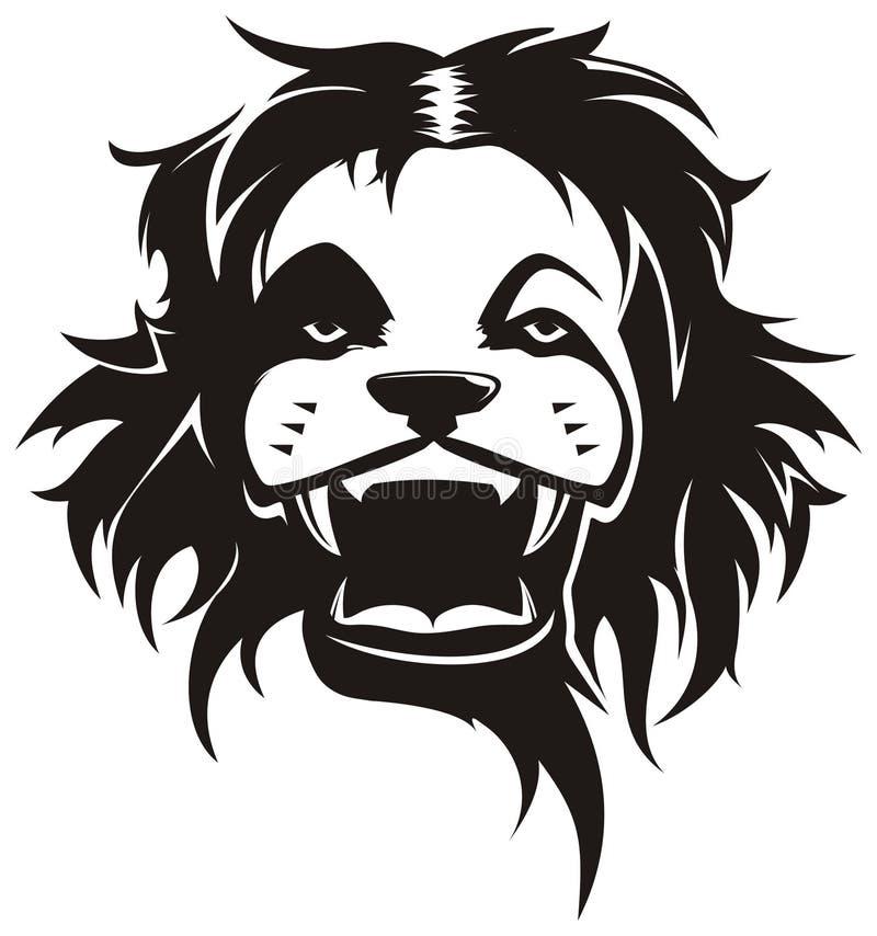 Ilustración salvaje del león stock de ilustración