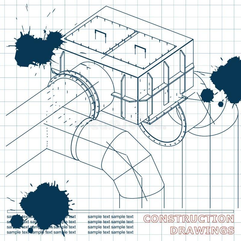 Ilustración técnica bosquejo tinta blots libre illustration