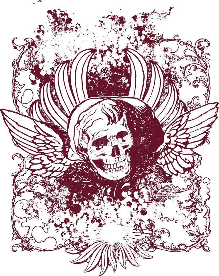 Ilustración traviesa del ángel stock de ilustración