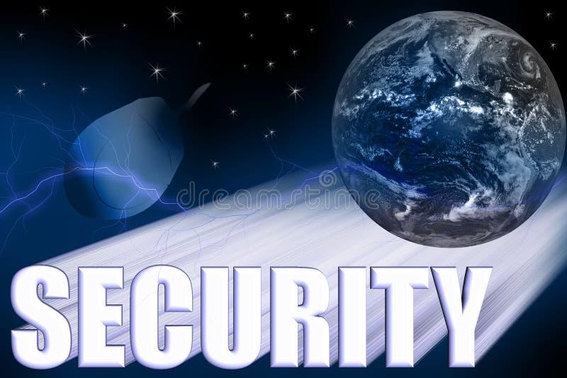 Ilustración tridimensional de la seguridad ilustración del vector
