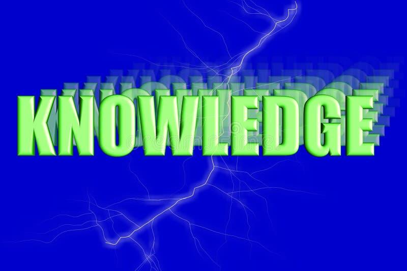 Ilustración tridimensional del conocimiento ilustración del vector