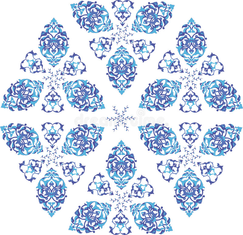 Ilustración turca del azulejo del otomano tradicional stock de ilustración