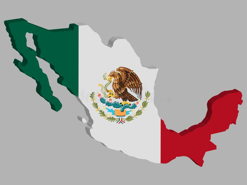 Ilustración Vectorial De Bandera Mapa De México 3D Eps 10 Ilustración del  Vector - Ilustración de soplando, naturalice: 166025339