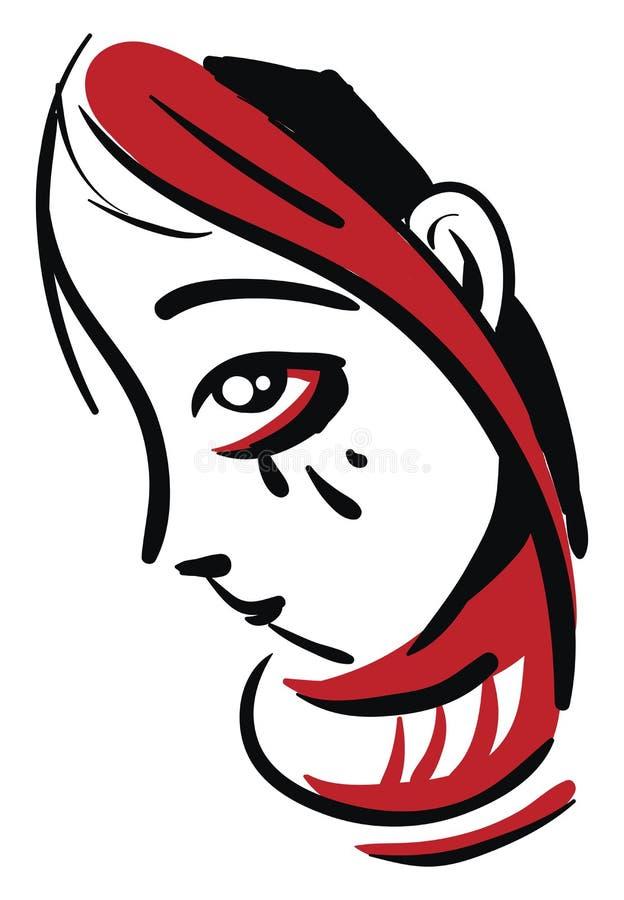 Ilustración vectorial de cabeza roja llorando libre illustration