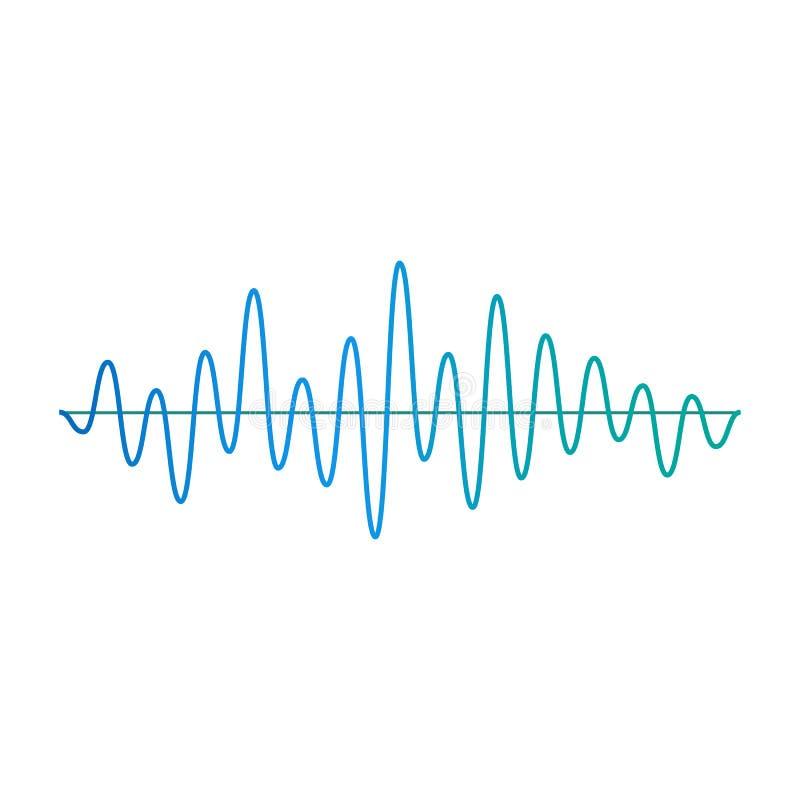 Ilustración vectorial de la onda de amplitud de la música o del elemento de frecuencia aislada libre illustration