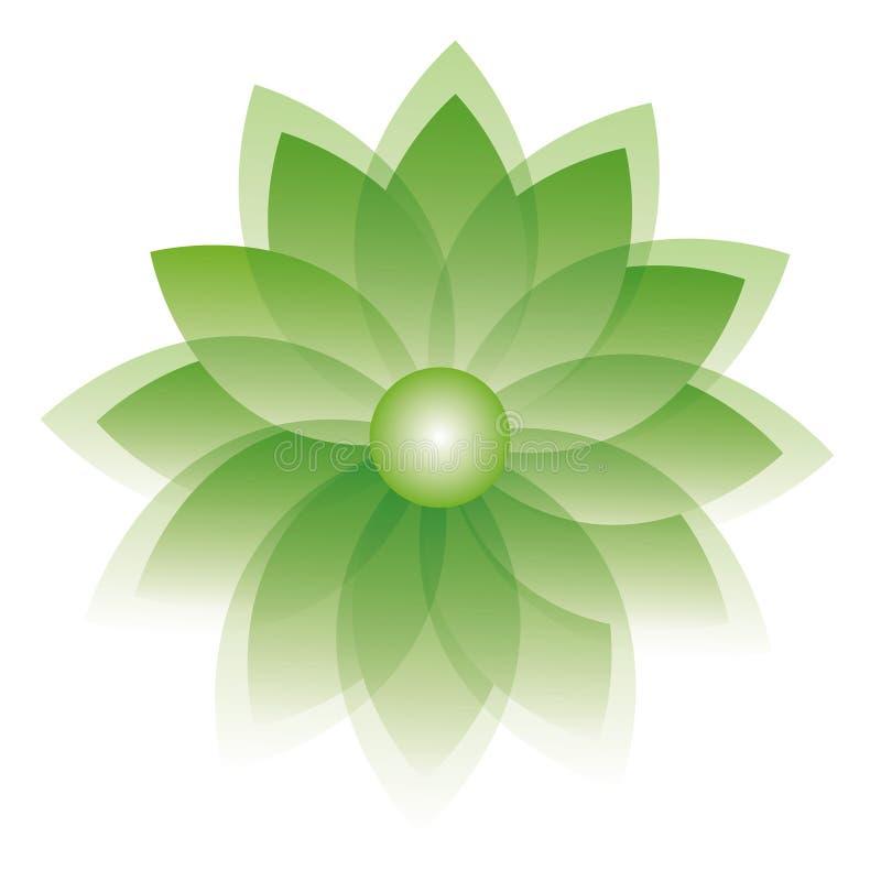 Ilustración verde de la flor stock de ilustración
