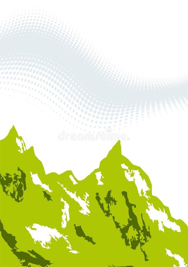 Ilustración verde de la montaña ilustración del vector
