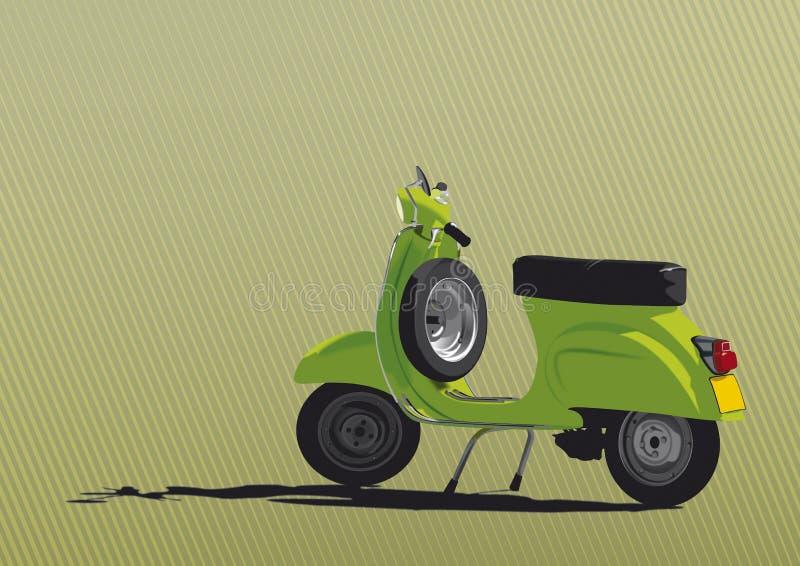 Ilustración verde de la vespa stock de ilustración