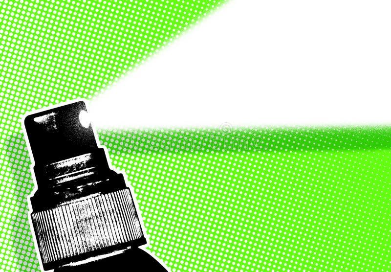 Ilustración verde del aerosol stock de ilustración