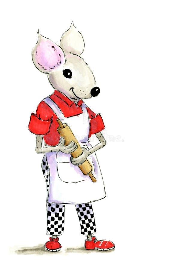 Ilustraci kucbarska mysz ilustracja wektor
