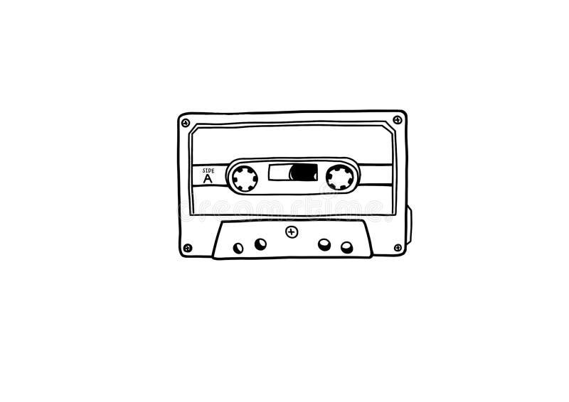 Ilustraci?n del cassette stock de ilustración
