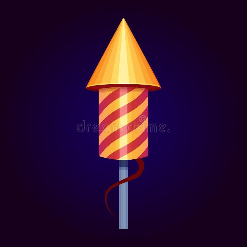 Ilustraci?n del vector Icono de los fuegos artificiales de Rocket libre illustration