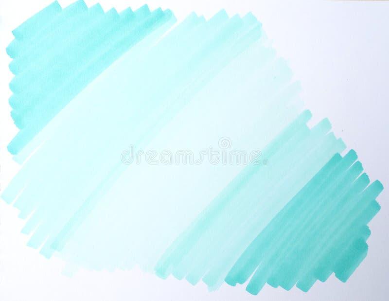Ilustraci?n Fondo, marcadores de la textura Tacto de la turquesa foto de archivo libre de regalías