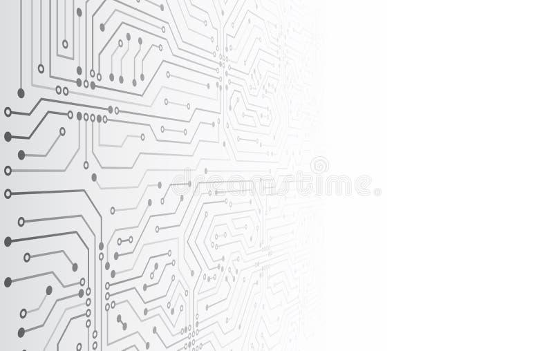 Ilustraci?n futurista del vector Fondo de alta tecnolog?a del extracto de la tecnolog?a stock de ilustración