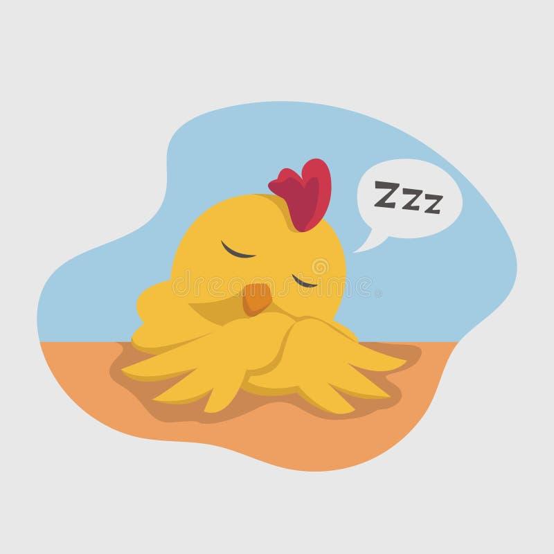 Ilustraci?n linda del polluelo stock de ilustración
