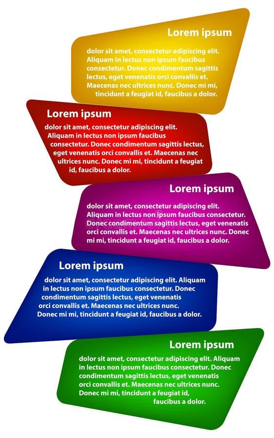 Ilustraci zaokrąglony geometryczny infographics ilustracja wektor