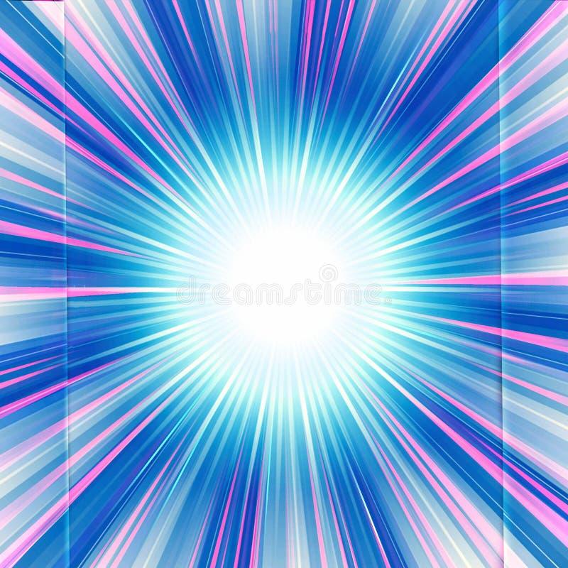 Ilustraciones únicas multicoloras artísticas de la explosión de la estrella del extracto ilustración del vector
