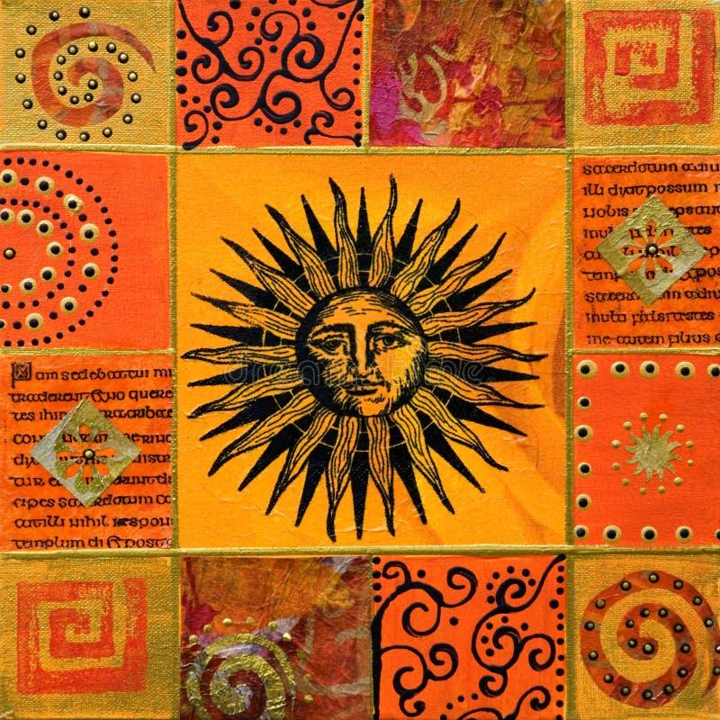 Ilustraciones con el sol imagen de archivo libre de regalías