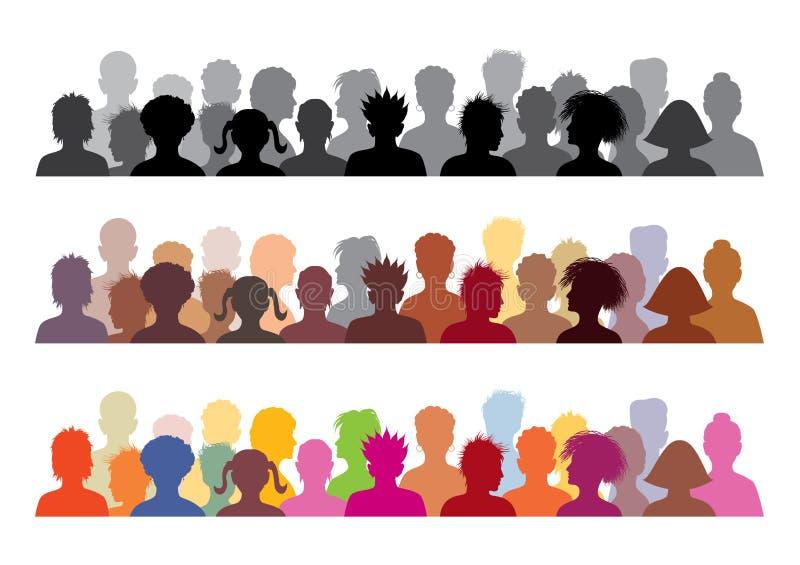 Ilustraciones de la audiencia stock de ilustración