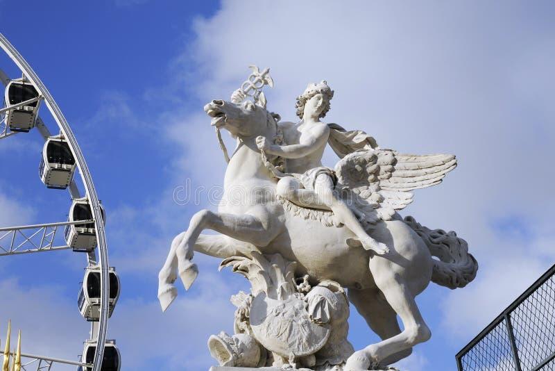 Ilustraciones de la estatua con mármol imagen de archivo libre de regalías