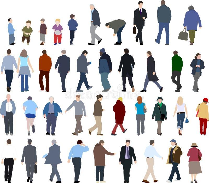 Ilustraciones de la gente ilustración del vector
