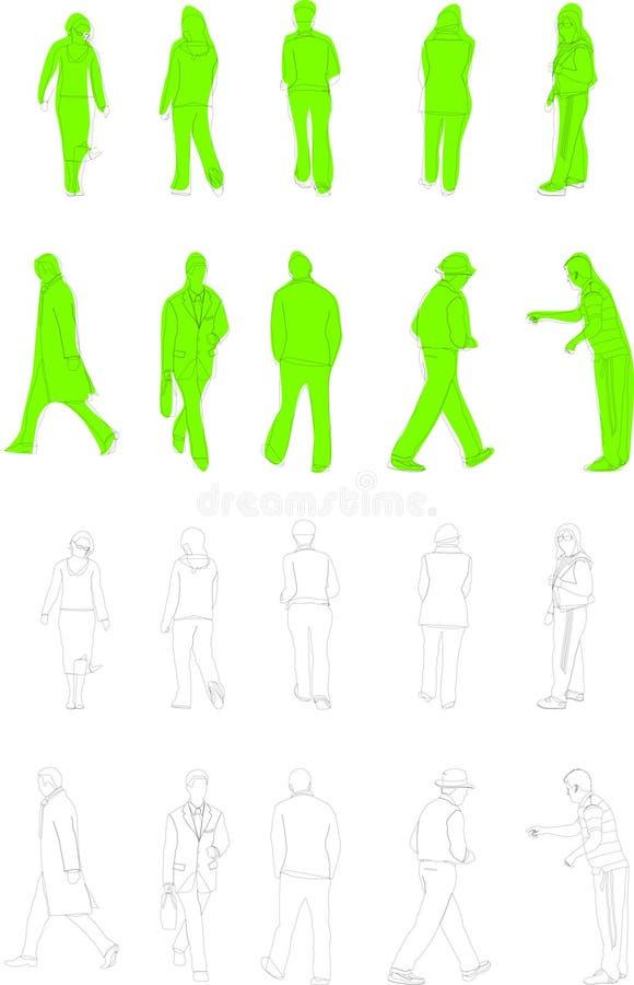 Ilustraciones de la gente stock de ilustración